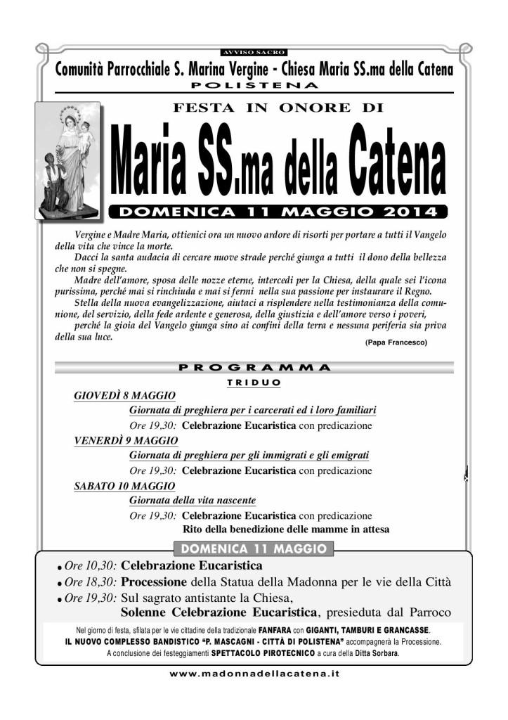 Manifesto CATENA 2014
