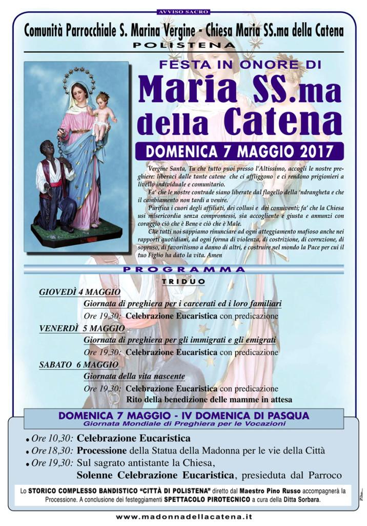Festa Madonna CATENA 2017