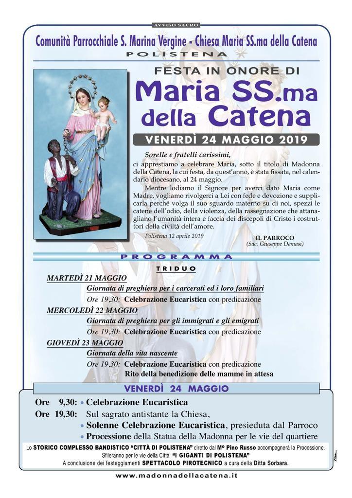 MANIFESTO CATENA 2019
